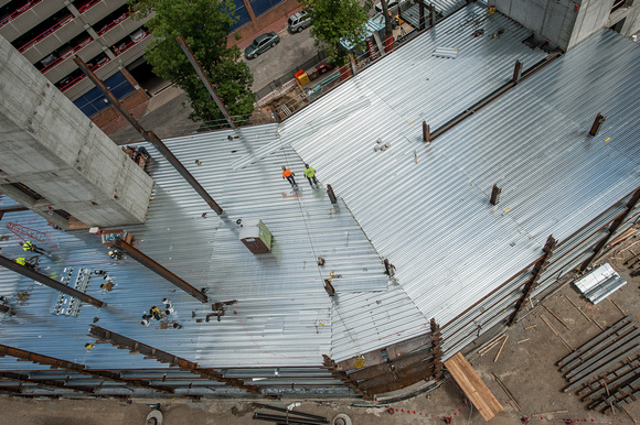 Robert umenhofer photography construction steel deck installation boston ma - Things consider installing balcony home ...